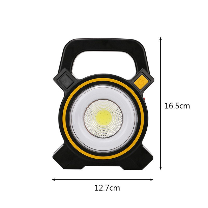 15W Recharge Portable COB LED Floodlight 18650 Battery Work Light For Outdoor Lighting