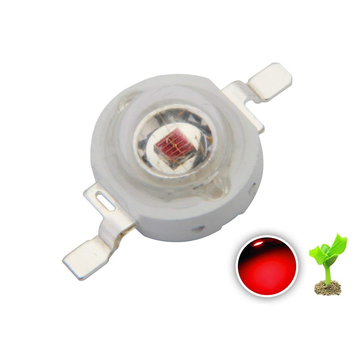 3W High Power LED Emitter (Far) Red 620-625nm 660nm for Plant Grow Light
