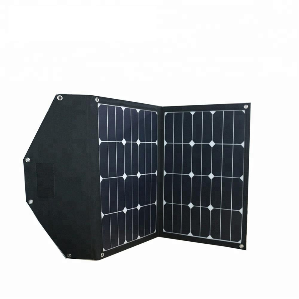 70W 18V Folding Solar Panel Battery Charger