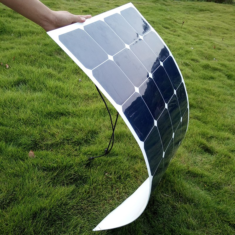 100W 18V Flexible Solar Panel Battery Charger