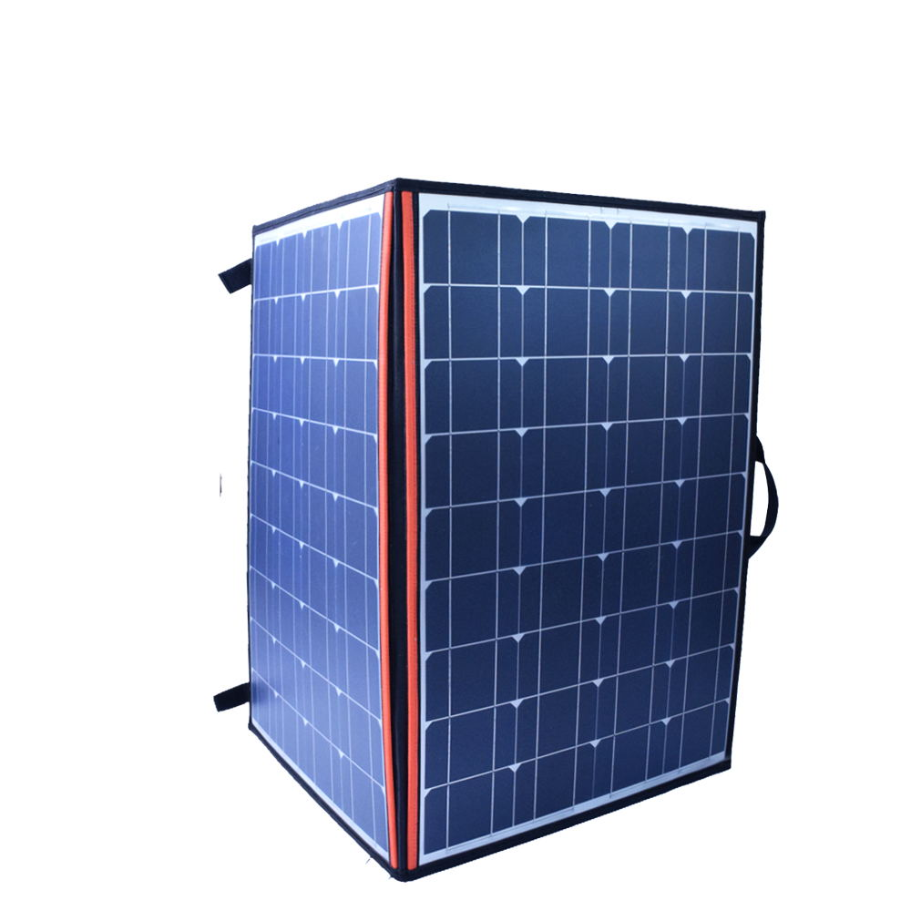 110W 18V Monocrystalline Folding Solar Panel Battery Charger