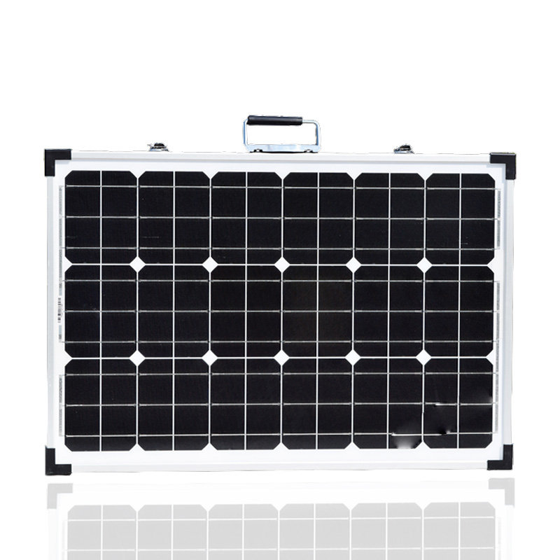120W 18V Folding Tempered Glass Solar Panel Battery Charger
