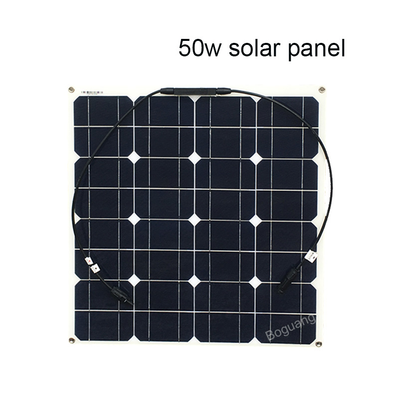200W 12V Solar System 50W Solar Panel 20A Controller Cable Connector