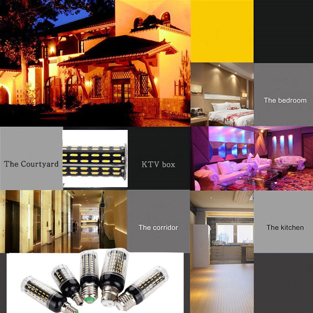 10W 20W 25W 30W E12 E14 E26 E27 B22 4014 SMD LED Corn Bulb Lamp 110V/220V Chandelier LEDs Candle Light