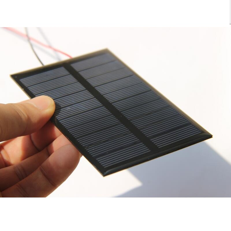 1.2W 5V Polysilicon Epoxy Solar Panel Cell Battery Charger