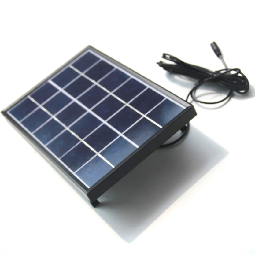 6W 6V Polysilicon Epoxy Solar Panel Cell with Frame Battery Charger