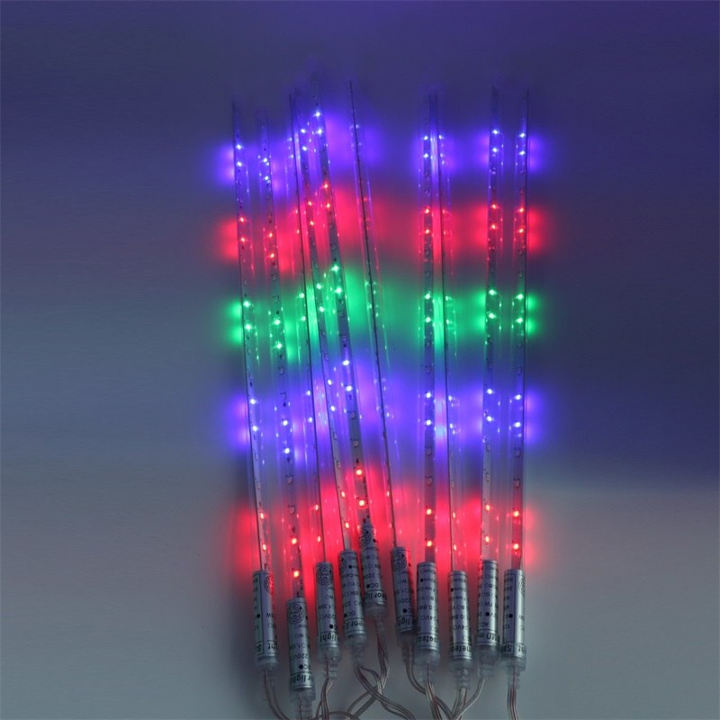 10pcs/Set Waterproof Meteor Shower Tube 2835 LED String Light 30CM / 50CM /80CM