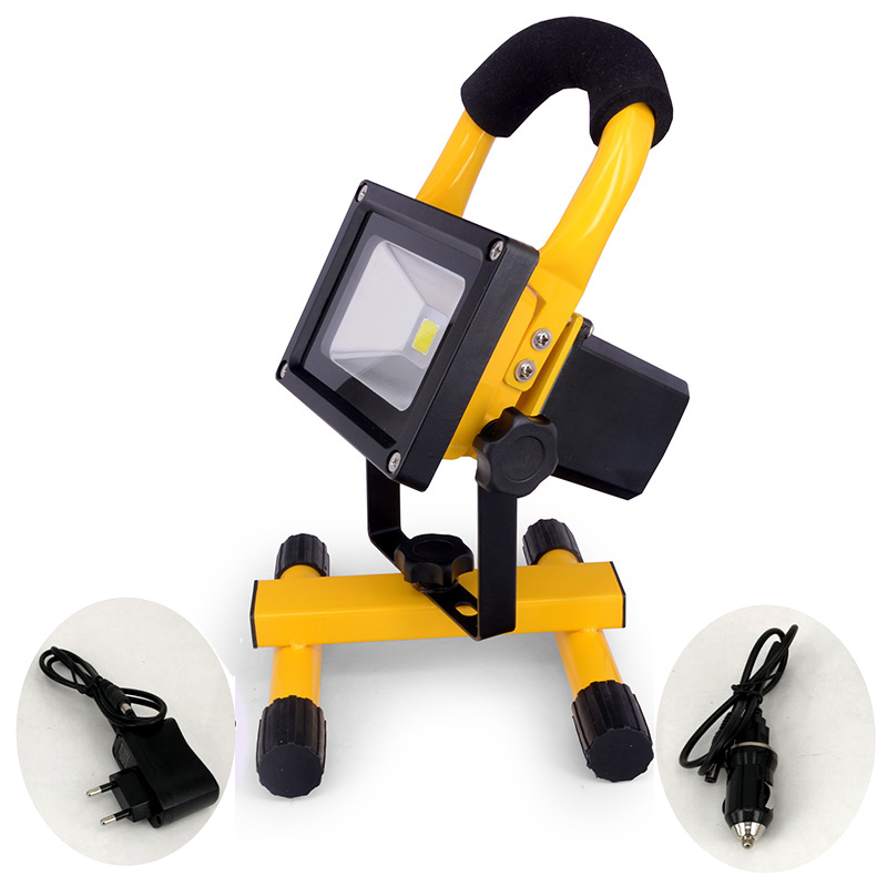 Recharge Portable LED Floodlight 10W 20W 30W 50W Waterproof Camping Lamp + Adapter + Charger