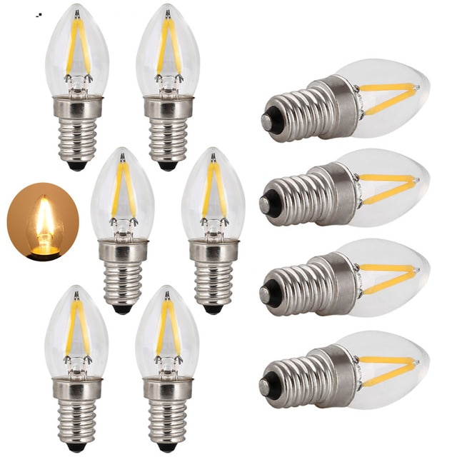 2W E14 C7 LED Edison Bulb 220V Home Light LED Filament Light Bulb