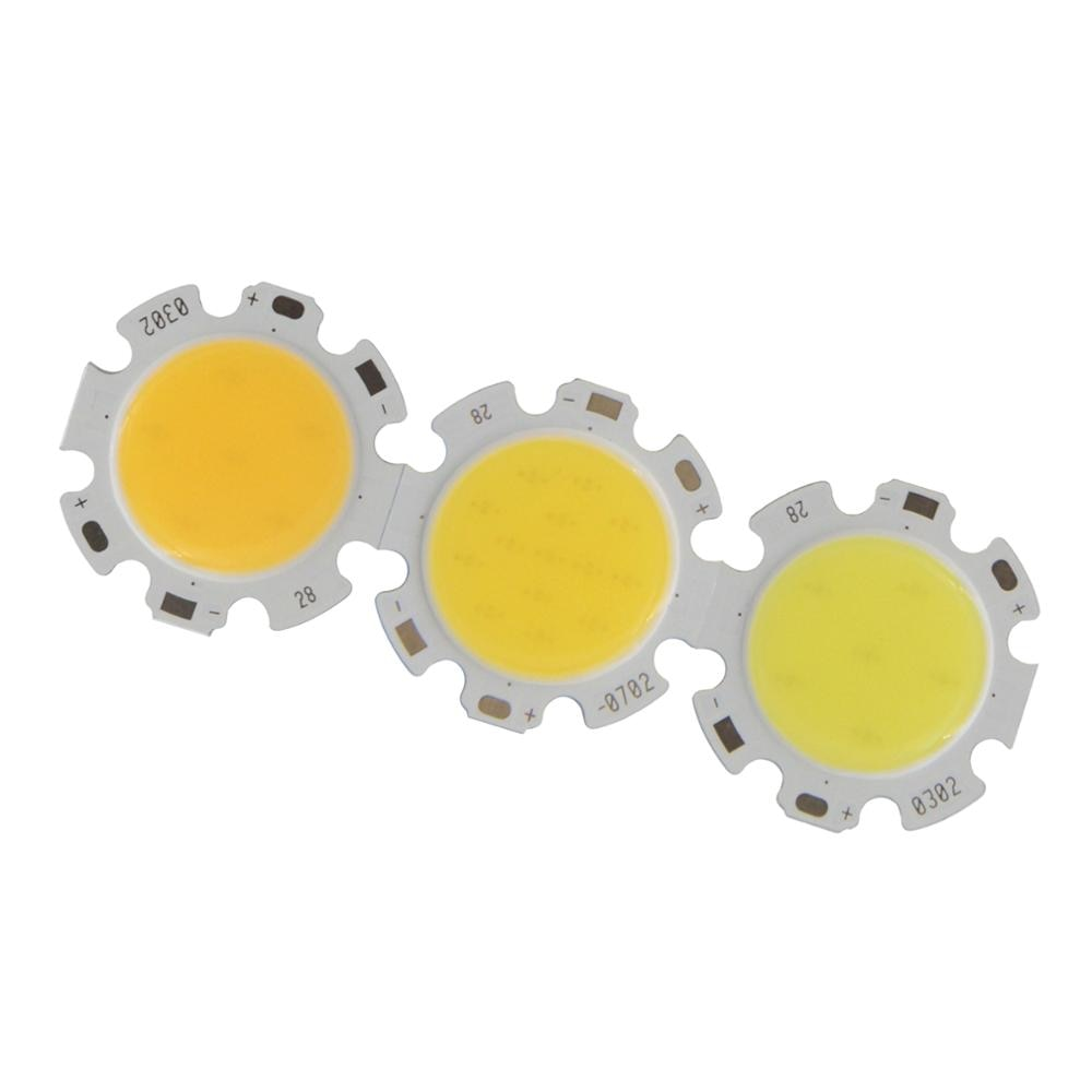 3W 5W 7W10W  LED COB Module LED COB Round Panel 300mA 28mm PCB 20mm Emitting Area