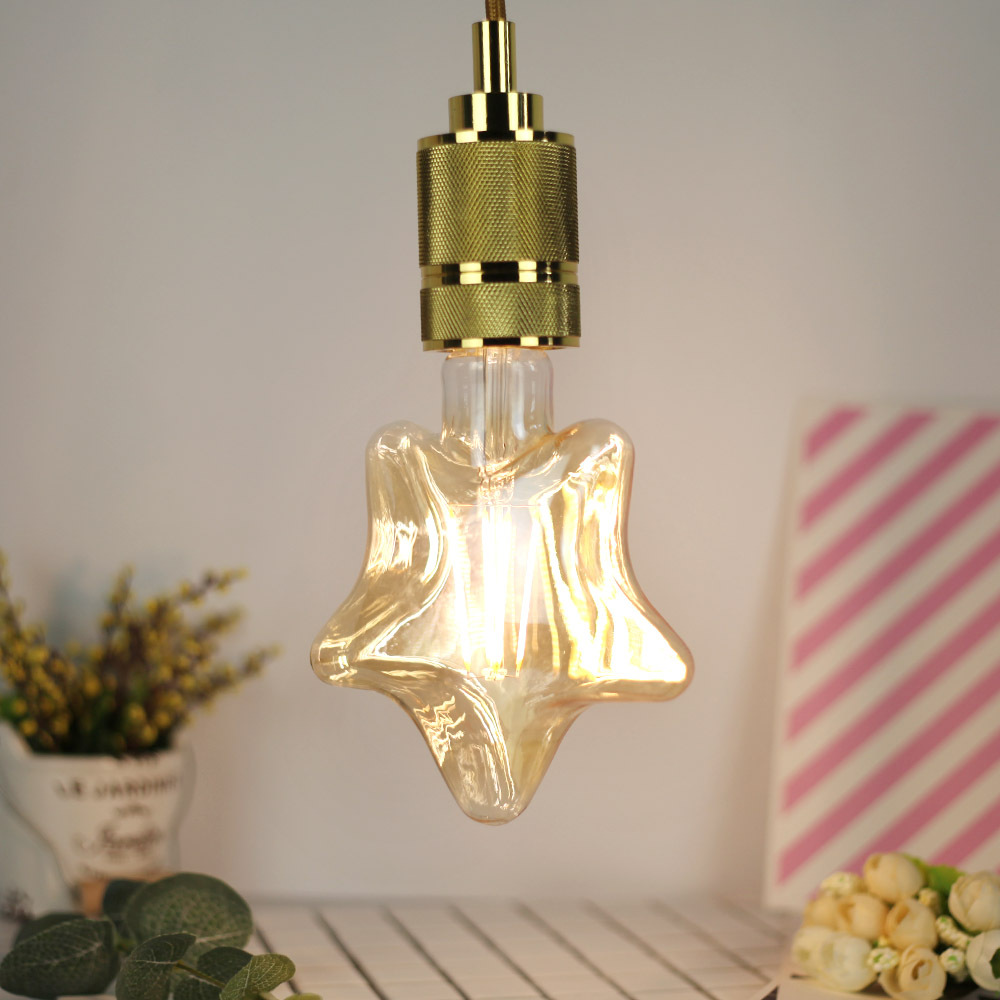 4W E27 Five-pointed Star LED Edison Bulb 220-240V Home Light LED Filament Light Bulb