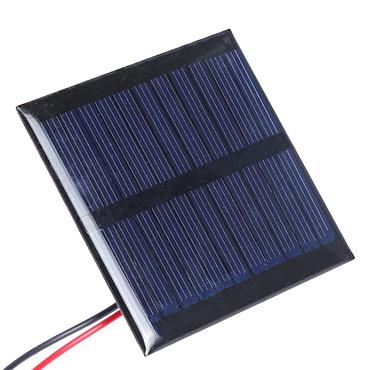 0.6W 5.5V Polysilicon Epoxy Solar Panel Cell Battery Charger