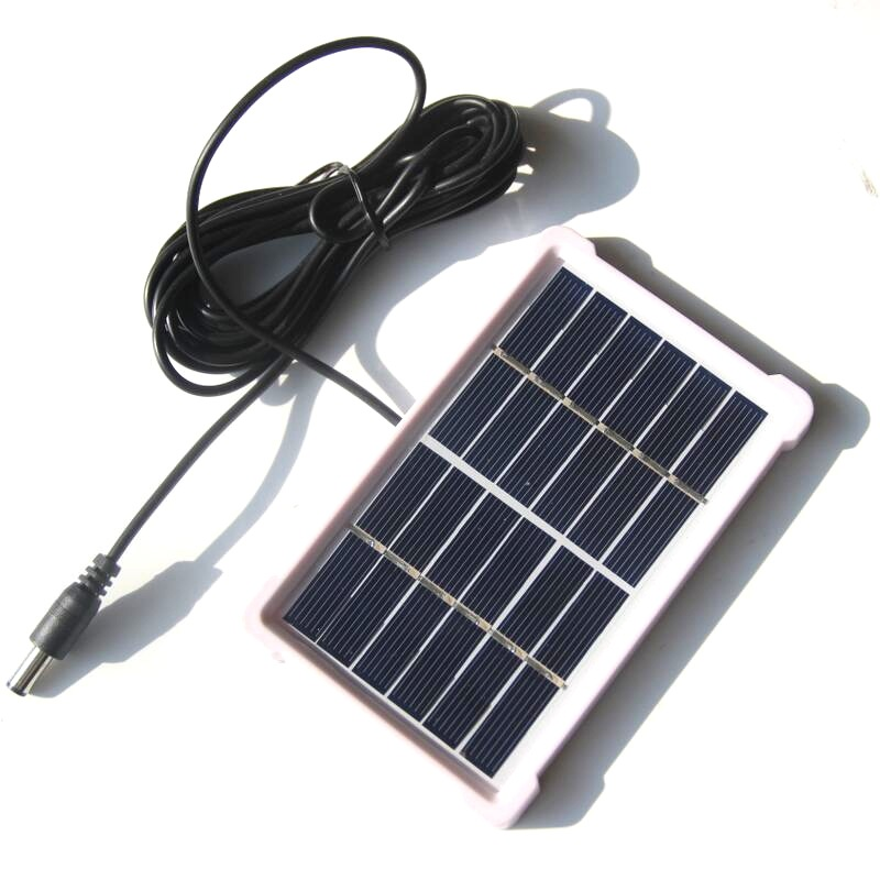 1W 6V Polysilicon Solar Panel Cell with Frame 3M Wire Battery Charger