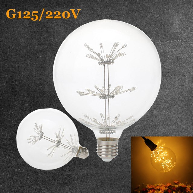 3W E27 G125 LED Edison Bulb AC220V Home Light LED Filament Light Bulb