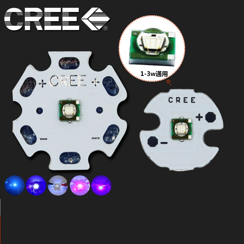 3W CREE XPE High Power LED Emitter Royal Blue 450/465nm With 16-20mm Aluminum PCB