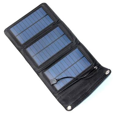 5W 5.5V Folding Solar Panel Battery Charger