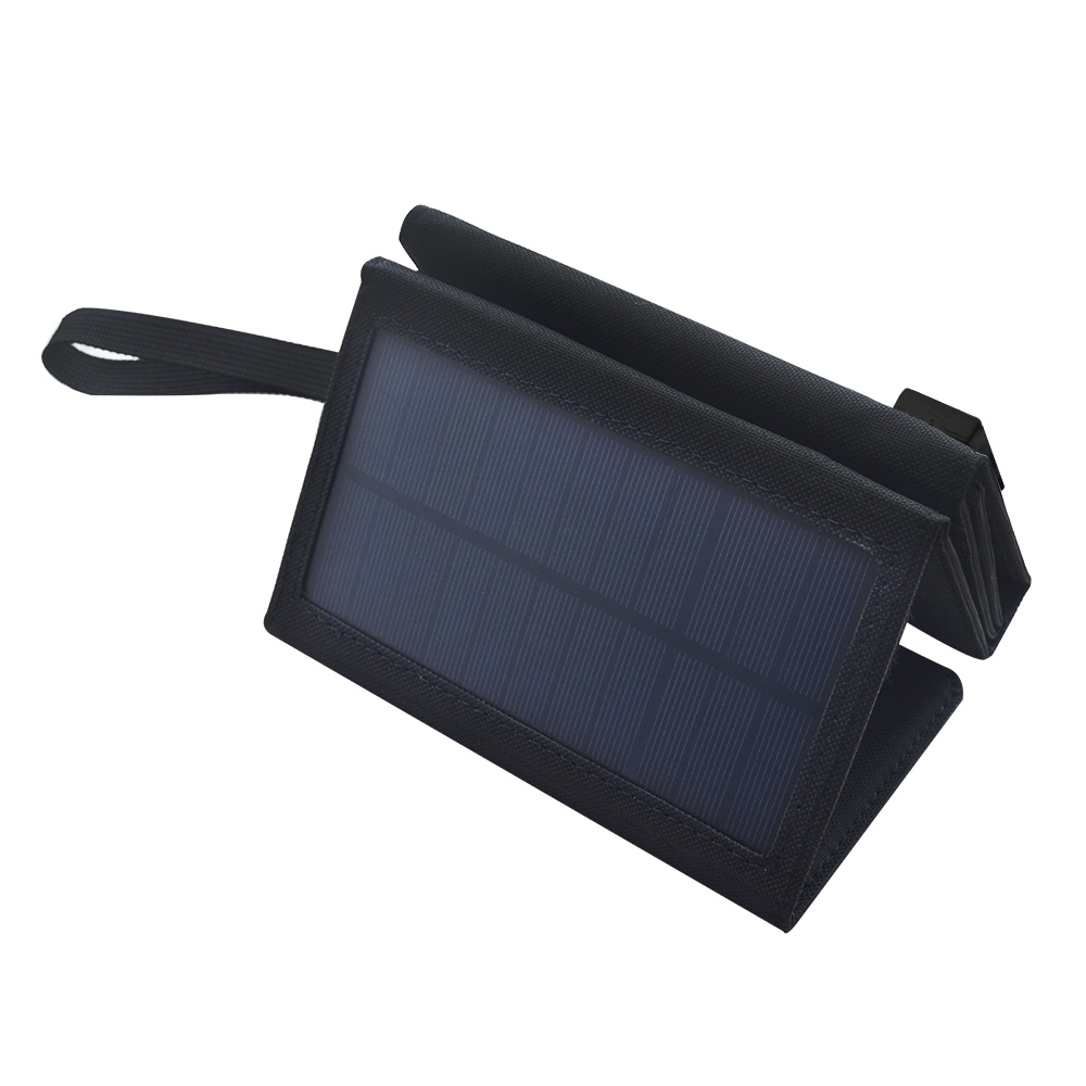 10W 5.5V Monocrystalline Folding Solar Panel Cell Battery Charger with USB