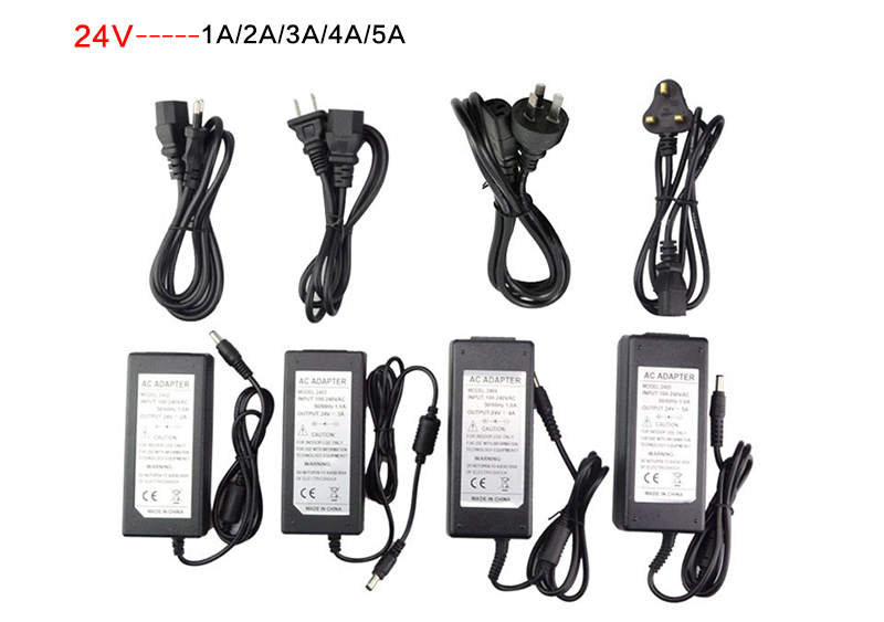 110V -240V to DC 24V 1A 2A 3A 4A 5A Switch Power Supply Adapter Transformer for LED Strip Lights