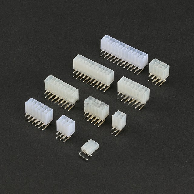 5557 Curved Pins 4.2mm Double Row Female Socket Plug 1P 2P 3P 4P 5P 6P 7P 8P 10P 12P Connector