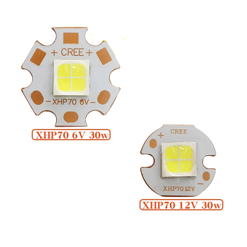 CREE XHP70.2 XHP-70 2 Generation Cool White Neutral White Warm White LED Emitter 6V 12V with 16mm 20mm Copper PCB